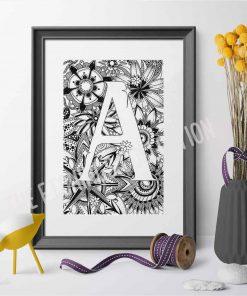 Alphabet Monogram A
