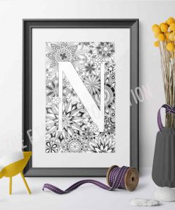 Alphabet Monogram N