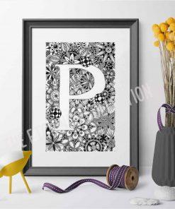 Alphabet Monogram P