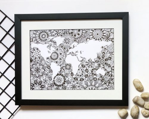 Wall Art Print World Map