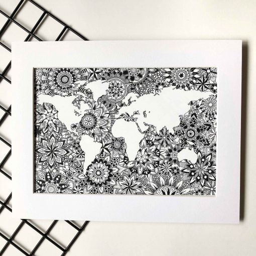 Wall Art Print World Map