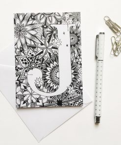 Alphabet Greeting Card Letter J