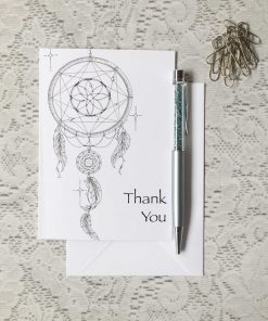 Thank You Greeting Card Dreamcatcher