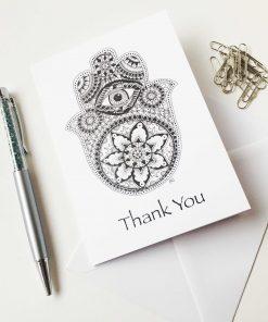 Thank You Greeting Card Hamsa Hand