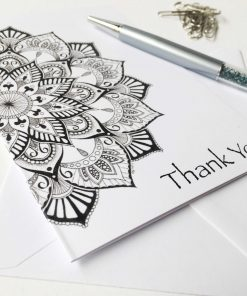 Thank You Greeting Card Mandala