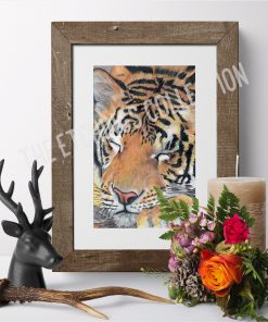 Sleeping Tiger Art Print