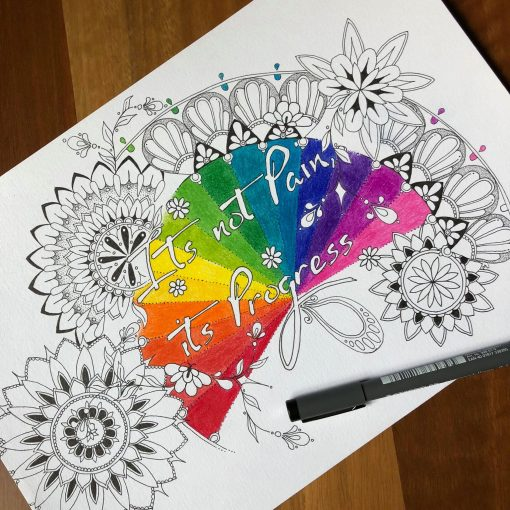 Custom Word Art Zentangle