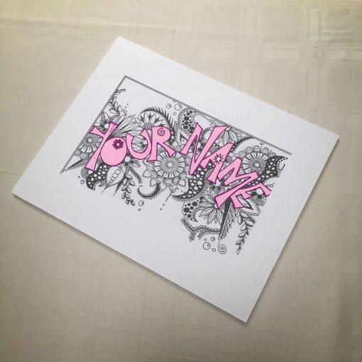 Custom Word Art Zentangle