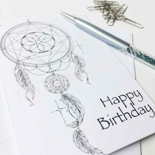 Happy Birthday Greeting Card Dreamcatcher