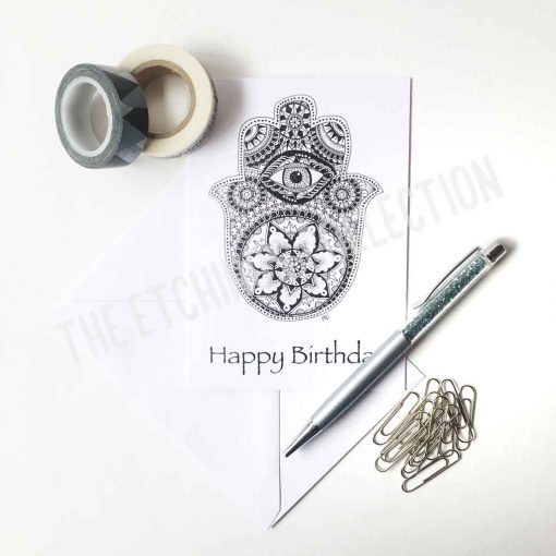Happy Birthday Greeting Card Hamsa