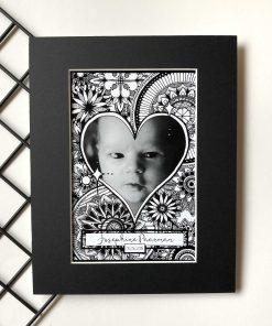 Custom Heart Frame